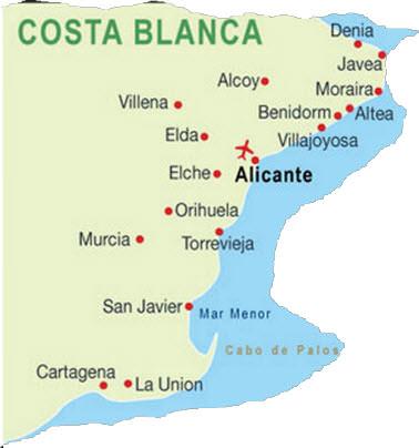 Karta Over Costa Brava Spanien Karta 2020